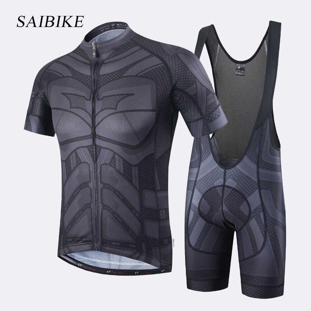 Super Hero Iron man Superman Spiderman Batman vélo jersey hommes court/long vélo vêtements roupa ciclismo vélo vêtements ensemble