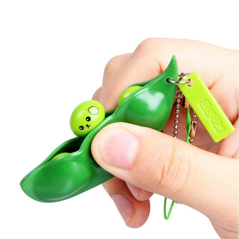 Haricots drôles presser jouet Anti-Stress haricots spongieux nouveauté Gag jouets Extrusion créative haricot de pois Gadgets drôles jouets de décompression