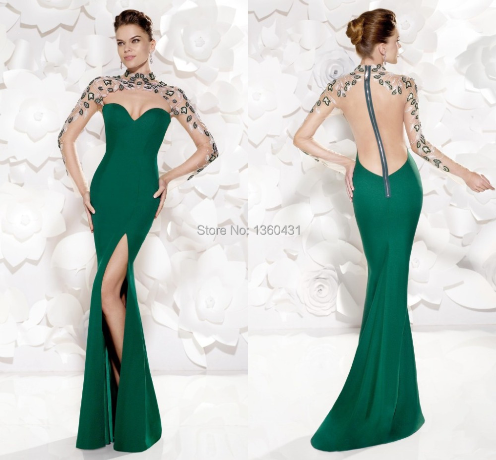 Luxury Couture Fashion Evening Gowns High Sheath Evening Dress ...