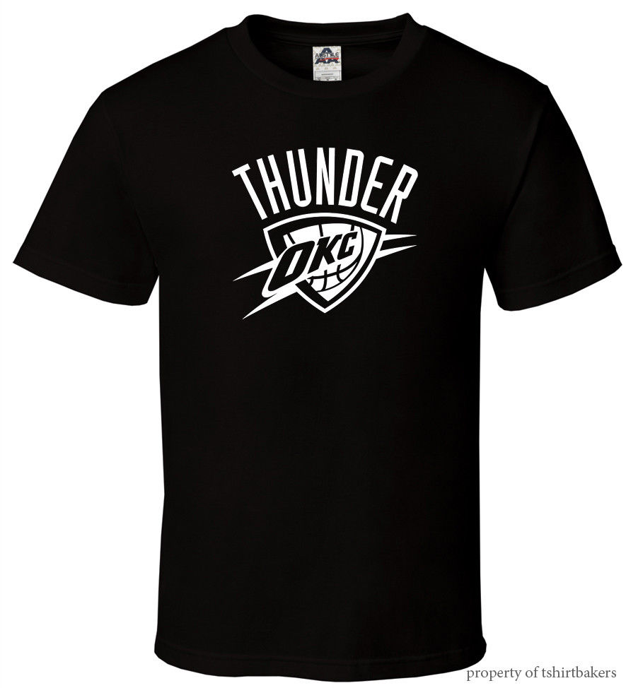 reputable site accfe 33466 US $12.34 35% OFF|OKC Black T Shirt Fan Oklahoma City Russell Thunder All  Sizes S 3XL Harajuku Tops t shirt Fashion Classic Unique free shipping-in  ...