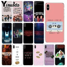 Yinuoda Should stay should Stranger Things Pattern Phone Cell Case for iPhone X XS MAX  6 6s 7 7plus 8 8Plus 5 5S SE XR