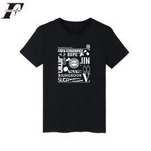 Kpop BTS Bangtan LUCKYFRIDAYF Manga Curta Homens Camiseta Branca JHOPE JIN  JIMIN V SUGA T Shirt Dos Homens do Algodão T-Shirt Ve. 4d21c8e627ceb