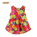 Summer Style 2016 Toddler Girl T-shirt Floral Sleeveless Bottoming Shirt Girls Princess T shirt Kids Clothes Children's Clothing