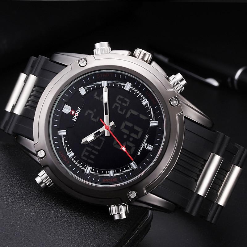 New HPOLW Casual Watch Men G Style Sports Military Watches Shock Men's Top Luxury Analog Digital Quartz Watch hpolw серебристый цвет 11