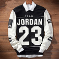 Harajuku Patchwork Mens Winter Hoodies Letter Jordan 23 Sweatshirts Printed  Black White 2 Colors Hip Hop Homme Hoody