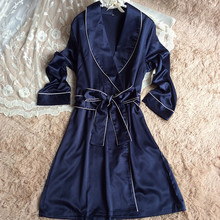 Silk robes for bridesmaids women bridesmaid silk wedding robes ladies elegant new arrival satin bridesmaid robes(China)