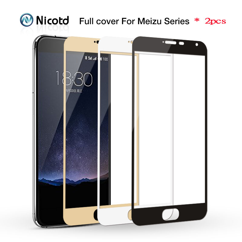 2pcs/lot 2.5D 9H Full Cover Tempered Glass For Meizu M3 Note M3S M3 Mini Max M3E M3X Screen Protector Toughened Protective Film
