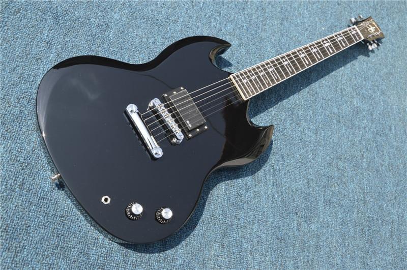 2017 New + Factory + Chibson SG AD/DC electric guitar Black Angus signature only one pickup AC DC SG guitar Free Shipping купить электроплиту в медиа маркет в санкт петербурге