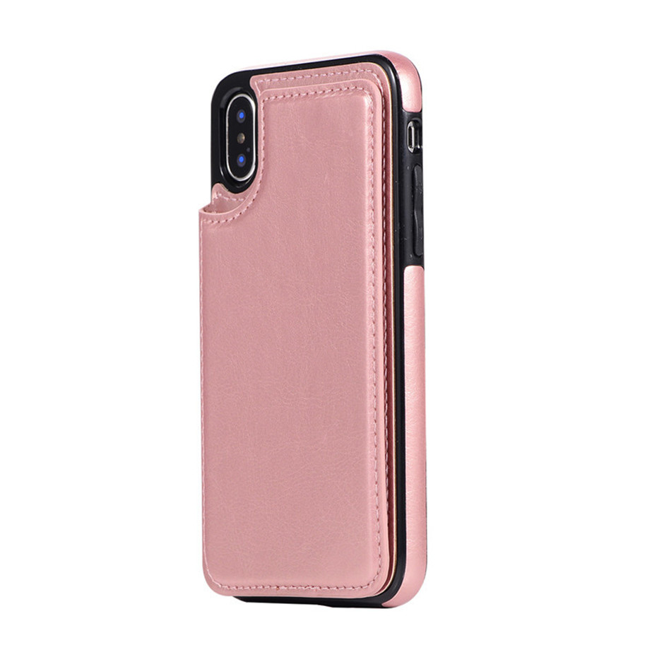 HTB1f.w6SrvpK1RjSZFqq6AXUVXaS Luxury Slim Fit Premium Leather Cover For iPhone 11 Pro XR XS Max 6 6s 7 8 Plus 5S Wallet Case Card Slots Shockproof Flip Shell