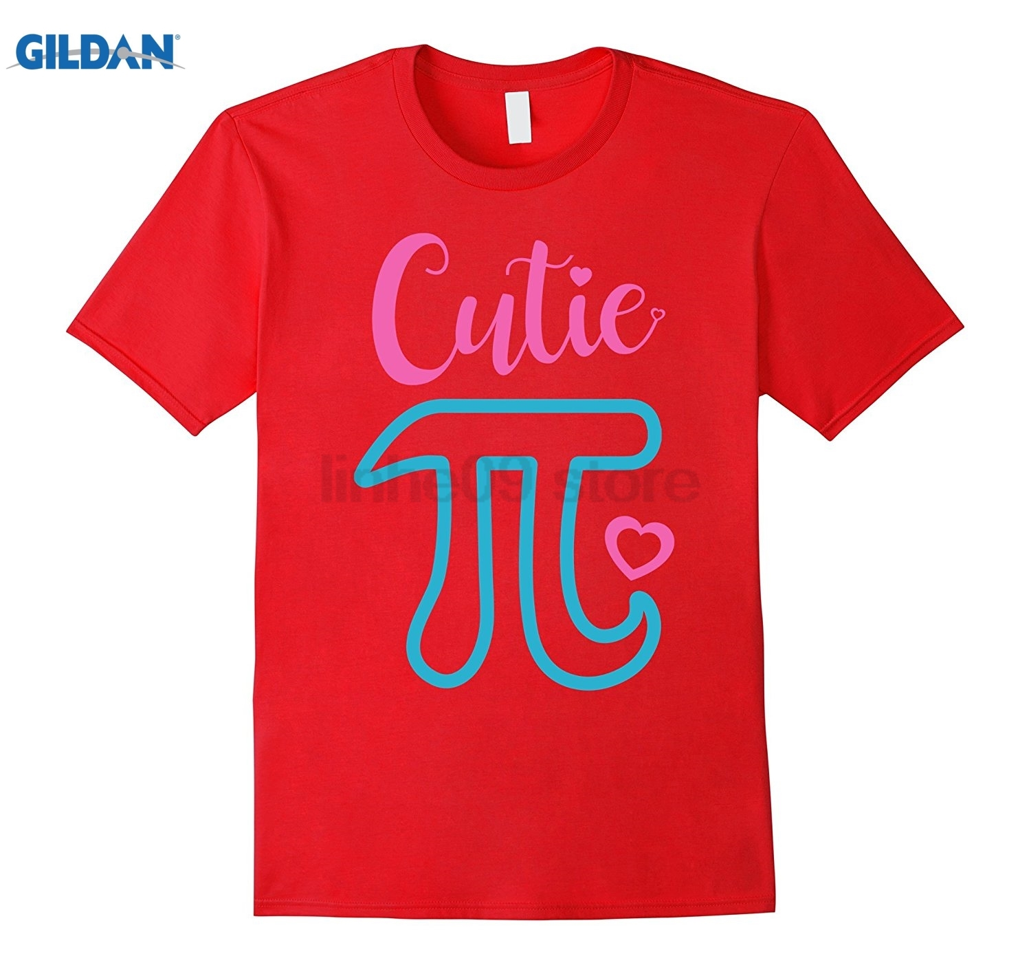 GILDAN Cutie Pi March 14 Day 2017 Cute Pink 3.14 Symbol T-Shirt Womens T-shirt