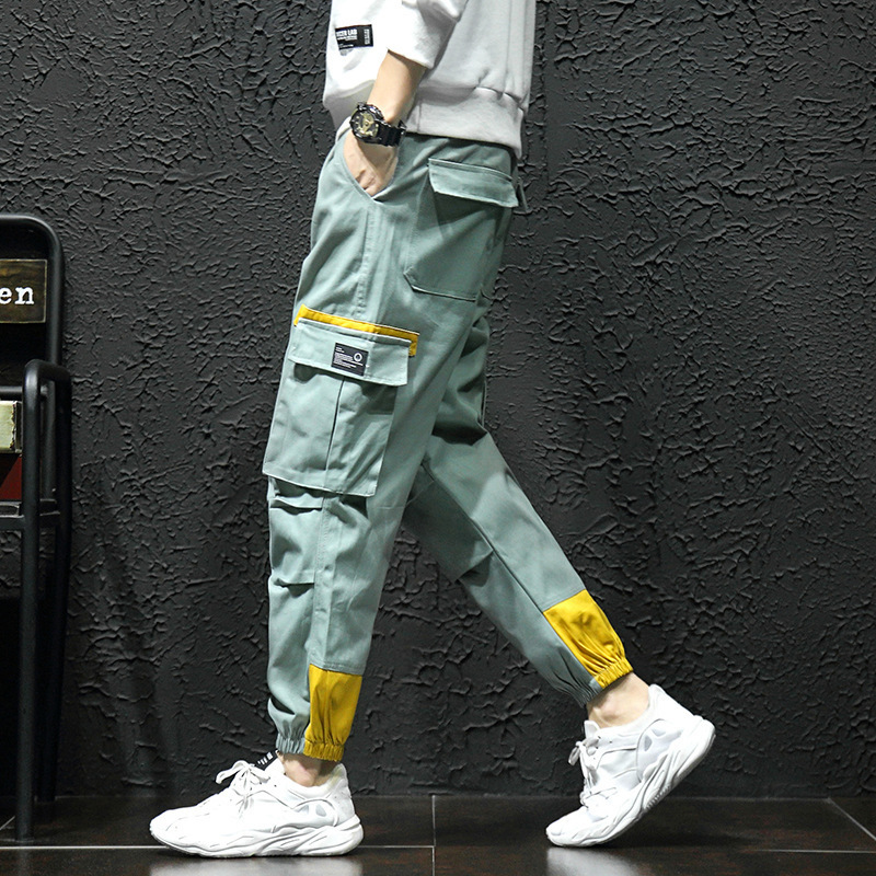 Trousers Streetwear Jogger-Pants Hipster Track Multi-Pockets Harem Cargo Hip-Hop Casual