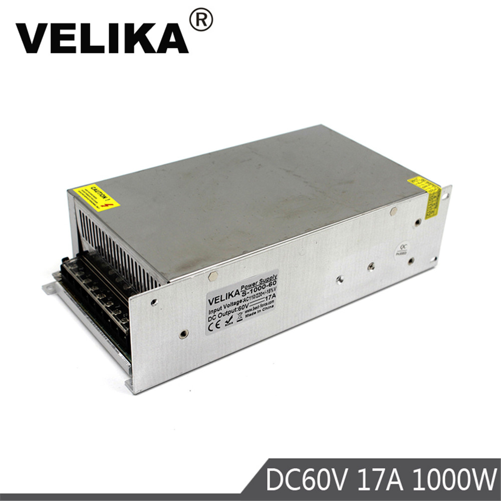 Single Output Switching Power Supply Transformer Ac 110 220V to Dc 60V 17A 1000W for CNC