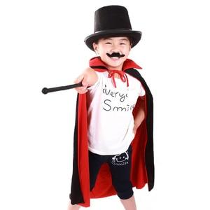 Image 3 - Halloween Cloak Cape Death Cloak Wizard Robe Magician Witch Fantasia Costume for Children