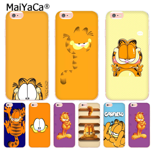 Wallpapers Source MaiYaCa Cute Lovely Cartoon Garfield Colorful Phone Accessories