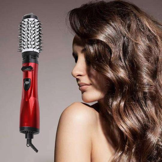 2 in 1 Rotating Curling Iron Brush Constant Temperature Hot Air Comb Automatic Hair Comb Rotating