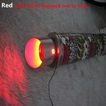 Exhaust Tail Pipe Red Heated LED Light Strip Modification Firing for Motorcycle