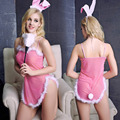 2016 Sexy Women Erotic Lingerie Dress Women Sexy Lovely Pink Bunny Role-playing Uniform Temptation Costumes Sexy Lingerie