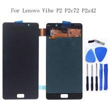 AMOLED עבור Lenovo Vibe P2 P2c72 P2a42 LCD תצוגת מסך מגע החלפת digitizer עבור Lenovo Vibe P2 מגע לוח טלפון חלקי