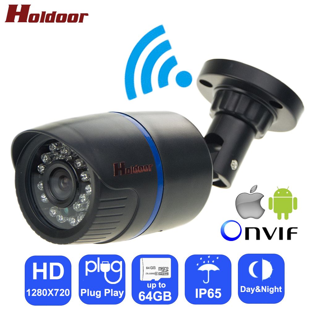 holdoor video surveillance ipc wifi ip camera hd 720p network ir cut night vision ip65. Black Bedroom Furniture Sets. Home Design Ideas