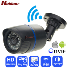 Holdoor Video Vigilancia IPC Cámara IP WiFi HD 720 P Red IP65 Impermeable Onvif Night Vision IR Cut para Android iOS teléfono