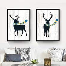 The elk sitting room adornment modern minimalist triptych of paintings small fresh bedroom wall entrance mural