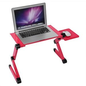 Image 1 - Computer Desk Portable Laptop Table Adjustable Standing Desk Computer Notebook Stand On Bed Office Mesa Notebook Desks