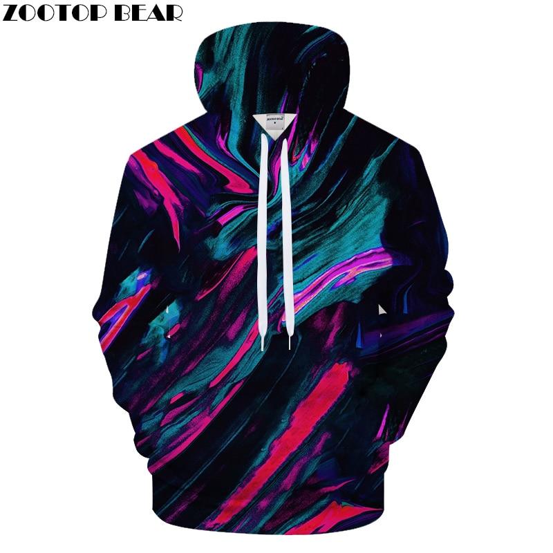 Colorful 3D Hoodies Men Print Hoody Funny Tracksuit Streatwear Sweatshirt LongSleeve Pullover Coat Harajuku DropShip ZOOTOPBEAR