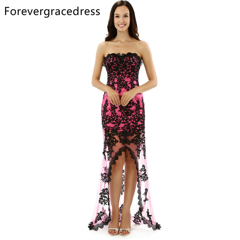 Forevergracedress Original Pictures Sexy Lace   Prom     Dress   Sweetheart With Split Sleeveless Long Formal Party Gown Plus Size
