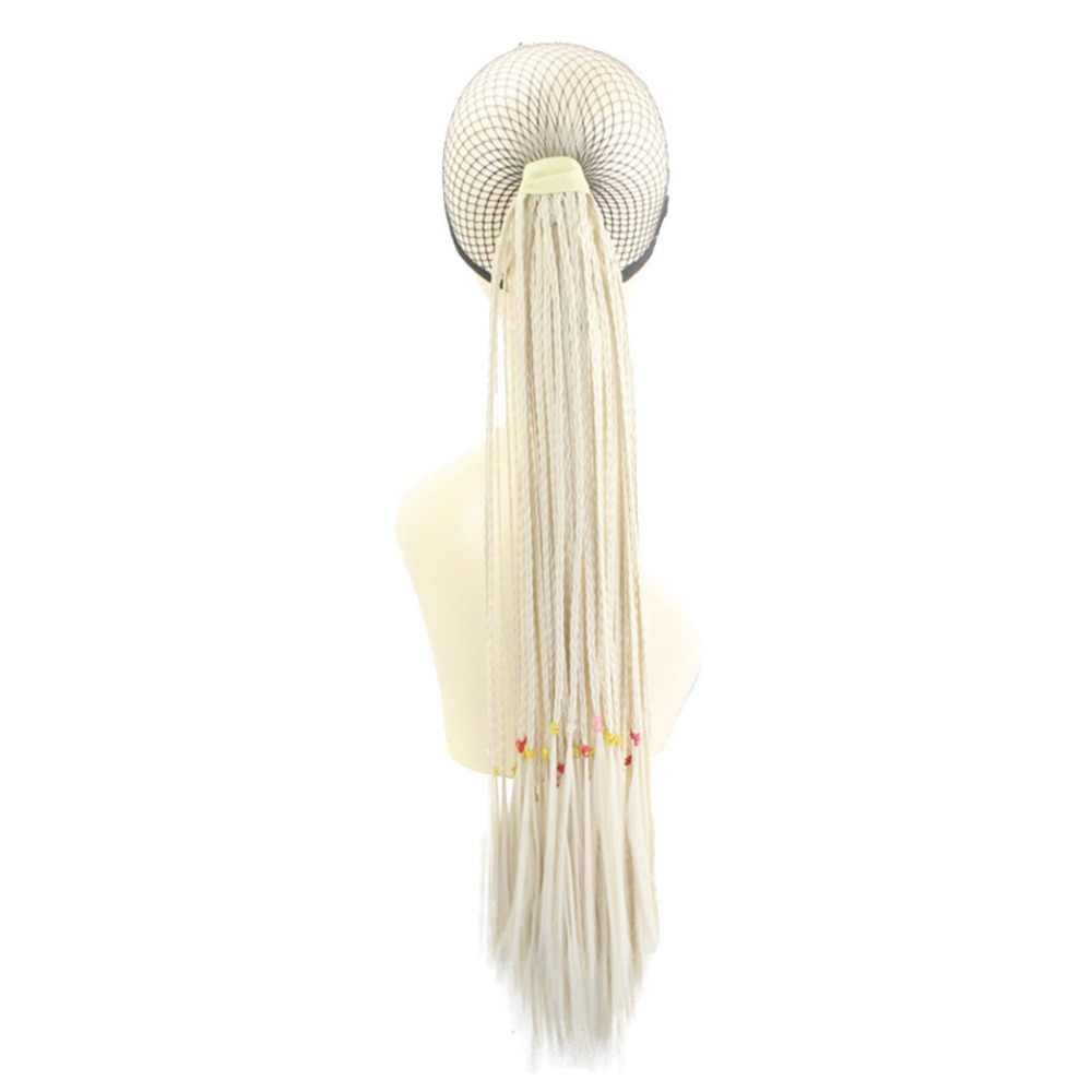 Joy & beauty tranças de cabelo 24 polegadas, cabelo preto, marrom, 29 cores, clipe para rabo de cavalo cabelo