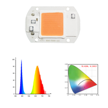 1pcs Hydroponice AC 220V 20w 30w 50w led grow chip full spectrum 380nm-840nm for indoor led grow light for plant flower