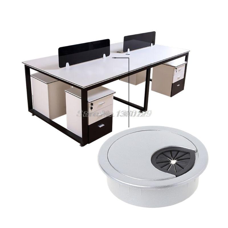 #60mm Computer Desktop Plastic Cable Box Table Wire Outlet Round Port Hole Cover Wholesale&DropShip#