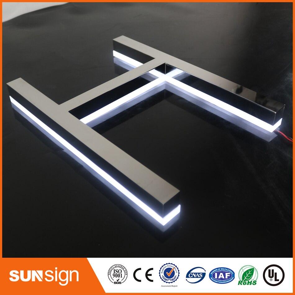 Polished Stainless Steel Backlit 3d Letter Signs