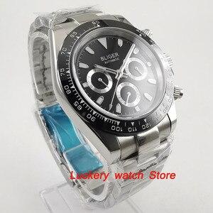 Image 3 - Reloj bliger de 39mm, esfera negra, multifunción, fecha de semana, movimiento automático, watch BA123 para hombres