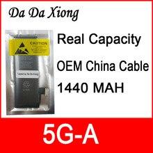 10 pz/lotto di Capienza Reale Cina bordo di Protezione 1440 mah 3.7 v Batteria per il iphone 5 5g zero ciclo di sostituzione parti di riparazione 5G A