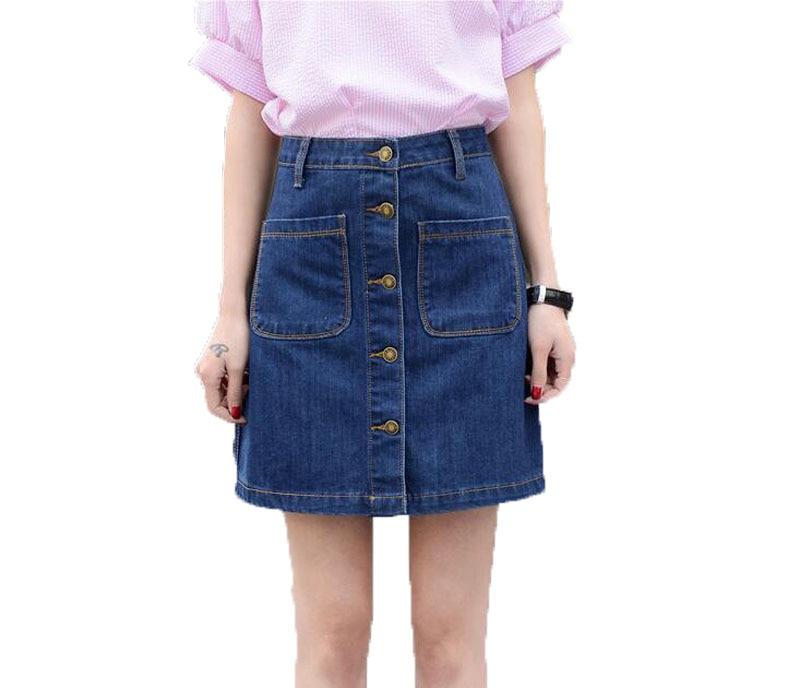 Online Get Cheap Girls Denim Skirt Knee Length -Aliexpress.com ...