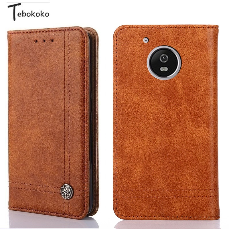 Leather Case for Moto G5S Plus G5S+ Phone Protective Card Slot Holder Wallet Flip Cover for Motorola Moto G5S Case with Stand