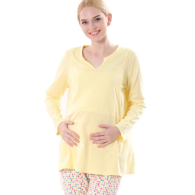 Nuevas mujeres del algodón de la camiseta de enfermería arropa sistemas chándal establece breasting ropa l, xl, XXL