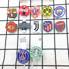 100pcs/lot Famous sign Cable Protector Data Line Cord Protective Case Winder Cover For iPhone Android USB