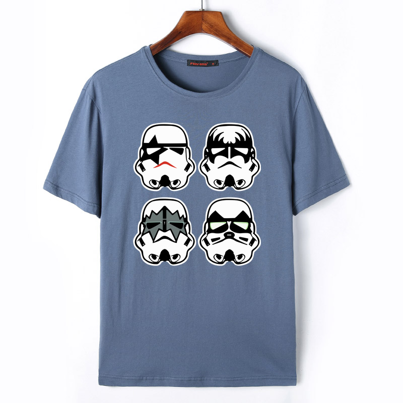 Flevans Star Wars Stormtrooper T-shirts Men's Creative Design Summer Tee shirts Casual Streetwear Cotton Tops New Funny T shirts
