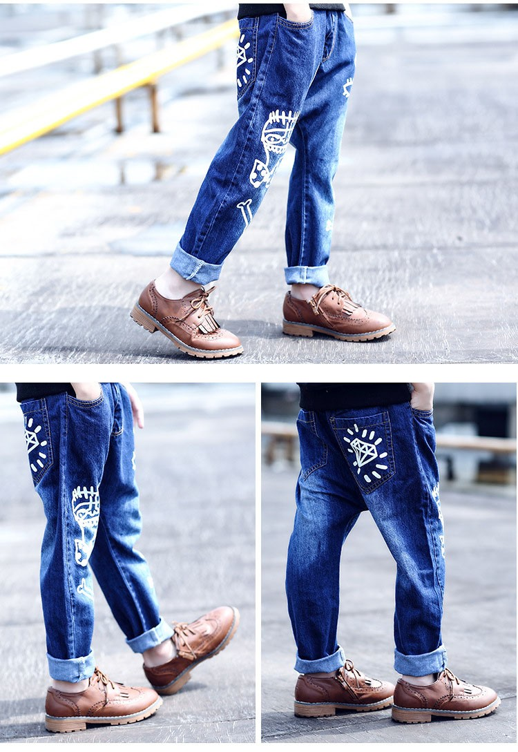 high quality fashion 2017 children jeans for boys kids scrawl pattern denim pants clothing children baby little big boy jeans clothes 6 7 8 9 10 11 12 13 14 15 16 years old (17)