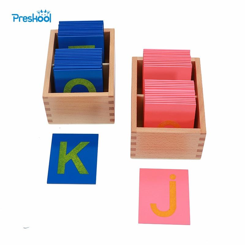 Детские игрушки Монтессори ниже и грозящем смертной казнью наждачной бумаги буквы раннего дошкольного Brinquedos Juguetes