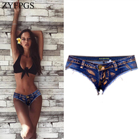 ZYFPGS 2018 Super shorts For Women's Vintage Old Style Autumn Shorts For Women Fashion Sexy Denim Without Trouser Legs Z1214