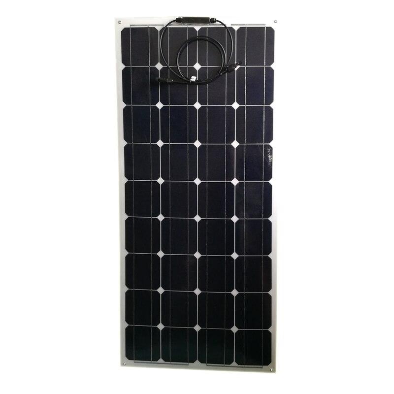 Panneau solaire Flexible Portable 12 v 100 w chargeur solaire monocristallin batterie caravane Camping voiture bateau Marine Yacht bateau LED