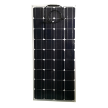 Portable Flexible Solar Panel 12v 100w Monocrystalline Solar Charger Battery Caravan Camping Car Boat Marine Yacht Boat LED gizcam practical efficiency 12v 50w soft flexible warterproof solar panel monocrystalline tool for yacht car boat snow mobile