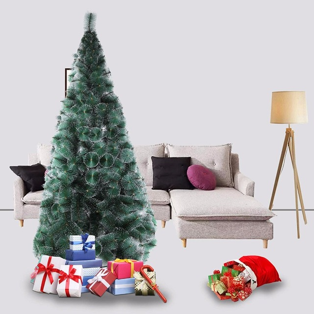 Tall Christmas Tree Decorating Ideas.Us 62 99 1 8 2 1 2 4m Tall Artificial Christmas Tree Decoration Pet White Dot Pine Needles Tree In Trees From Home Garden On Aliexpress Com