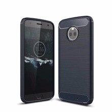 For Motorola X4 Case Slim Hybrid Super Armor Carbon Fiber Texture Brush Soft TPU Silicone Cover C G5S E PLUS Z2 PLAY FORCE
