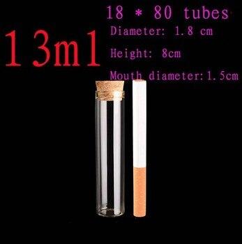 Capacity 13ml (18*80mm) 200pcs/lot test tube glass bottle packaging sample vials,glass bottle,bottle,glass jar