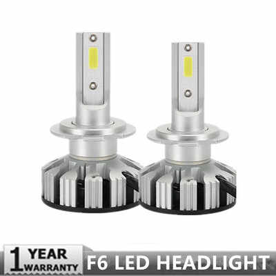 PAMPSEE New Upgrade Mini Canbus H4 H7 Car LED Headlight Kit 50W 10000LM/Set H1 H11 9005 HB3 9006 HB4 6500K Bulbs Car Accessories