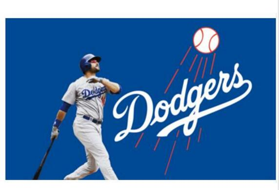Los Angeles Dodgers player digital printed banner 150x90cm