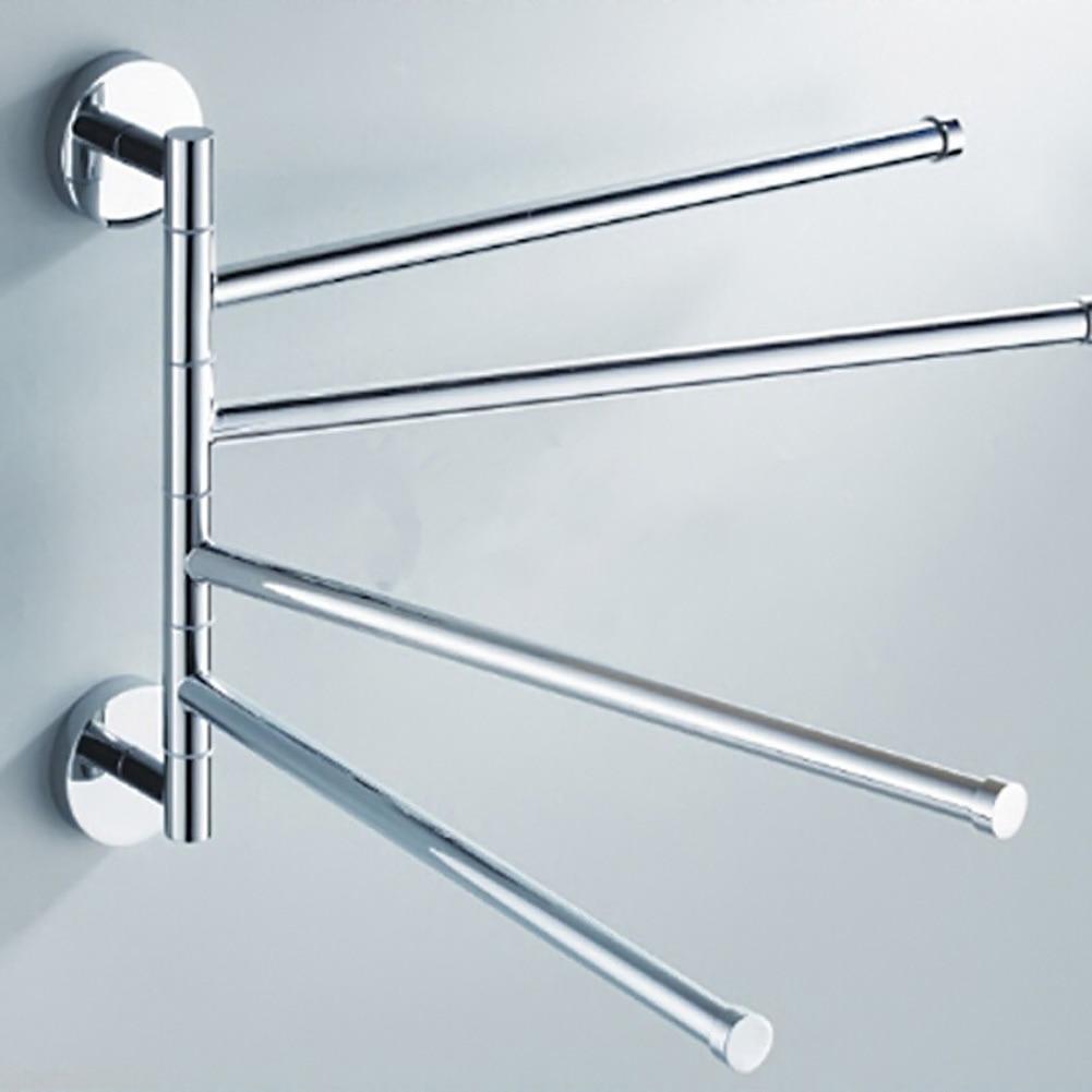 Stainless Steel Towel Bar Rotating Towel Rack Bathroom Kitchen Towel ...